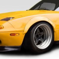 Duraflex 1990-1997 Mazda Miata Duraflex Rocket Wide Body Front Fender Flares – 4 Piece