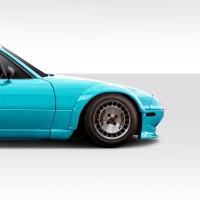 Duraflex 1990-1997 Mazda Miata Duraflex TKO RBS Wide Body Front Fender Flares – 2 Piece