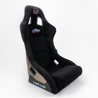 NRG FRP Bucket Seat ULTRA Edition – Large (Black Alcantara/Gold Glitter Back)