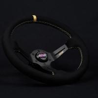 DND Performance 350MM Alcantara Race Wheel – Tan Stitch