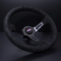 DND Performance 350MM Alcantara Race Wheel – Black Stitch