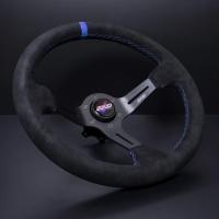 DND Performance 350MM Alcantara Race Wheel – Blue Stitch