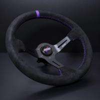 DND Performance 350MM Alcantara Race Wheel – Purple Stitch
