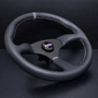 DND Performance Leather Touring Wheel – Grey Stitch