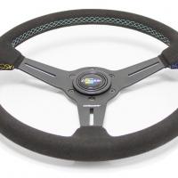 GReddy GPP 3 Spoke 340mm Black Leather Steering Wheel