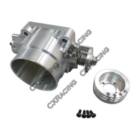 CX Racing Q45 80MM Billet Aluminum Throttle Body for Nissan Skyline Silvia S13 S14 S15 RB20DET RB25DET
