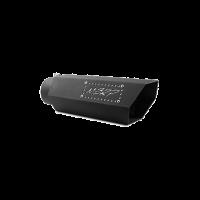 MBRP Tip, 5″ Hex Tip 4inID inlet 16″ length, SS Logo Plate, Black Coated