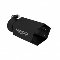 MBRP HEX exhaust tip 3″ inlet, 4″ O.D, 10″ Length, Black Series