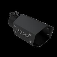 MBRP Hex exhaust tip 2.5″ inlet, 4″ O.D., 10″ Length, Black SeriesBlack Hex Exhaust Tip