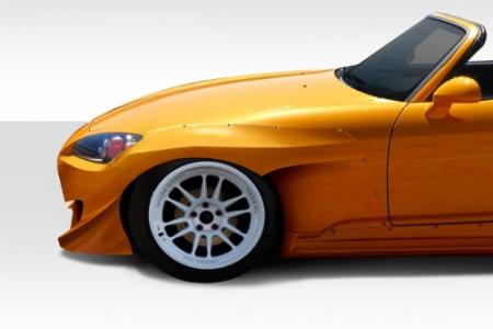 Duraflex 2000-2009 Honda S2000 TKO RBS Wide Body Front Fenders – 2 Piece