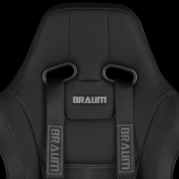 "Braum 4 PT – Racing Harness 2"" Strap (Black)"