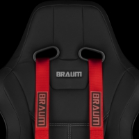 "Braum 4 PT – Racing Harness 2"" Strap (Red)"