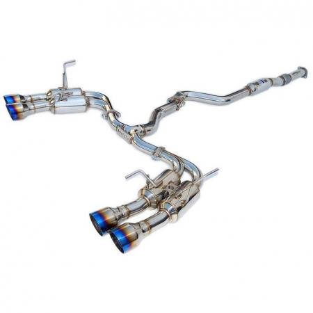 Invidia 08-14 Subaru WRX Hatchback Gemini Single Layer Titanium Tip Cat-back Exhaust