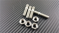P2M STAINLESS T25 / T28 TURBO INLET STUD NUT SET M8X1.25