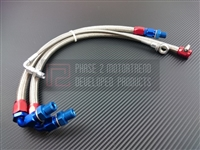 P2M NISSAN S13 SR20DET STEEL BRAIDED TURBO LINE KIT