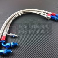 P2M NISSAN S14/15 SR20DET STEEL BRAIDED TURBO LINE KIT