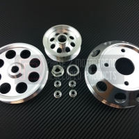 P2M NISSAN S13 SR20DET 3 PIECE PULLEY KIT – SILVER