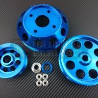 P2M NISSAN S13 SR20DET 3 PIECE PULLEY KIT – BLUE