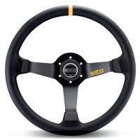 Sparco Leather 350mm Steering Wheel – Black