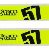 Gramlights 57DR/57CR Spoke Sticker Luminous Yellow – PAIR